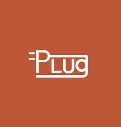 power letter symbol typography logo vector image