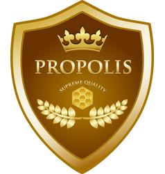 Propolis gold icon vector