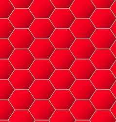 Red geometric hexagon background seamless pattern vector image