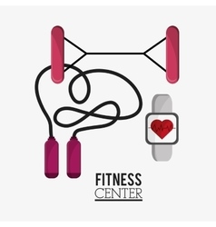 Rope watch and fitness design vector