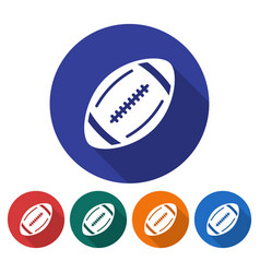 Round icon of american football flat style with vector