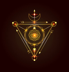 sacred geometry good for logo vector image