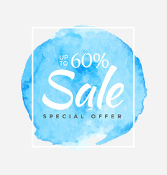 sale final up to 60 off sign over art brush vector image