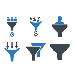 Sales Funnel Flat Icons vector