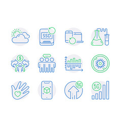Science icons set included icon as recovery vector