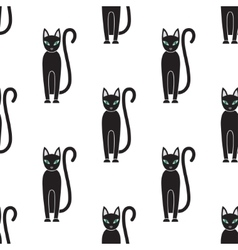 Seamless pattern Cat on a white background vector image