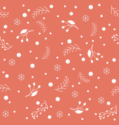 seamless winter pattern merry christmas texture vector image
