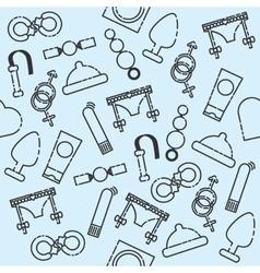Sex shop pattern vector