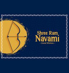 shree ram navami indian festival card design vector image