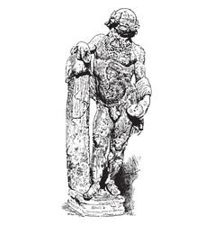 Silenus - marble sculpture in greek mythology vector