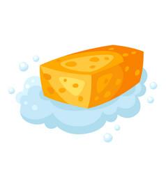 soap foam sponge vector image