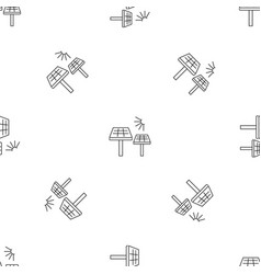 solar panel pattern seamless vector image