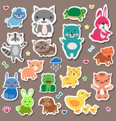 sticker animal baby vector image