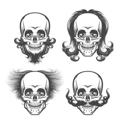 The human skulls set vector