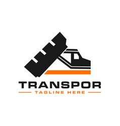 Transportation truck outline logo vector