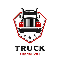 truck shield logo vector image
