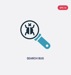 two color search bug icon from technology concept vector image