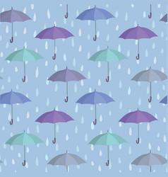 umbrella seamless pattern raindrop background vector image