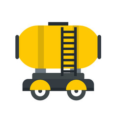 Waggon storage tank with oil icon flat style vector