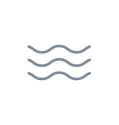 wave line icon water sea flat ocean graphic vector image