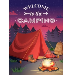 Welcome To Camping Poster vector