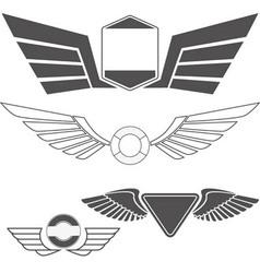 Wings set4 vector