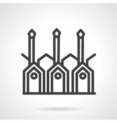 Wood processing line icon vector image