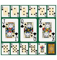 Clubs Suite Black Jack large figures vector image