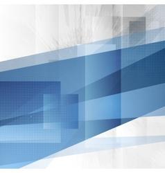 Grunge tech blue design vector image vector image