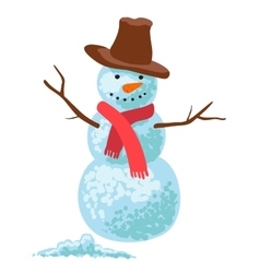 Snowman isolated on white vector image