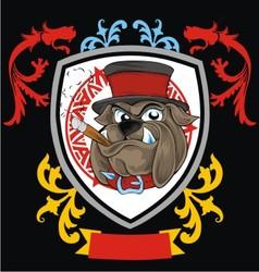 vintage bulldog head vector image vector image