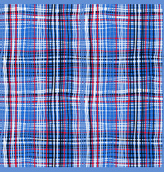bold plaid pattern with thin brushstrokes vector image