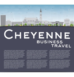 Cheyenne Wyoming Skyline with Grey Buildings vector image