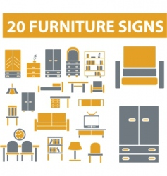 furniture signs vector image
