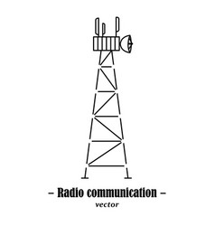 logotype for radio communication vector image