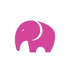 Pink Elephant Icon vector image vector image
