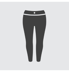 Woman trousers icon vector image vector image