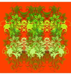 flowers on red background vector image