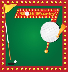golf party invitation vector image