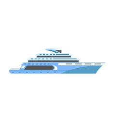 yacht or ship cruise liner or speedboat vector image vector image