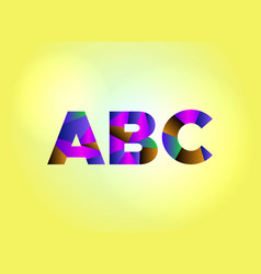 Abc concept colorful word art vector