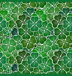 clover leaves seamless vector image vector image