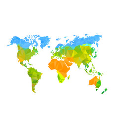 map world polygon on a white background vector image