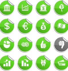 Money stickers vector image vector image