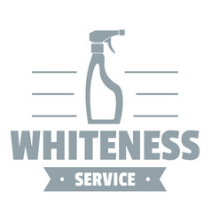 whiteness service logo simple gray style vector image