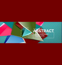 3d triangular shapes abstract background vector image