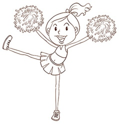 A simple sketch of a cheerleader vector image
