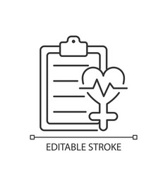 Access to healthcare linear icon vector