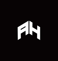 Ah logo monogram modern design template vector