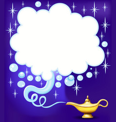 Aladdins magic lamp ready to fulfill wishes vector